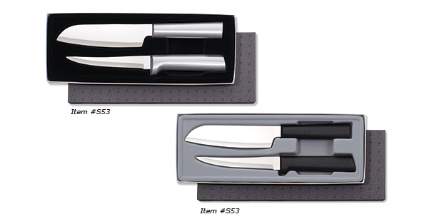 The two piece gift set with the cooks utility and super paring knives.