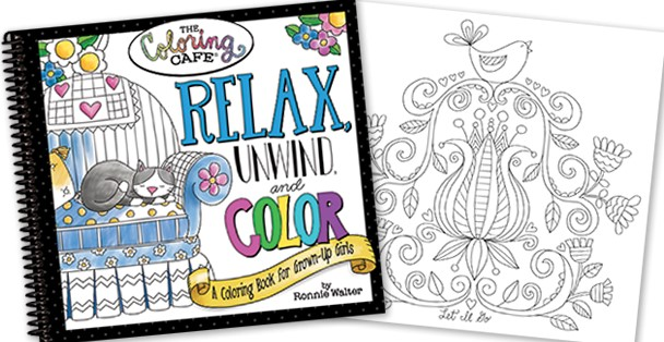 Relax, unwind, and color book for grownups.