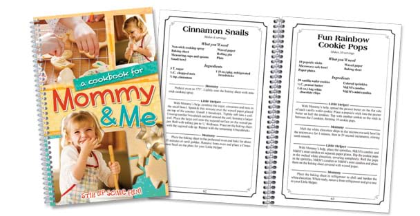 The best children's cookbook, Mommy & Me, made by Rada Cutlery.