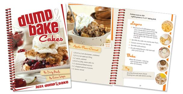 Cookbook recipes to mix and bake cakes in in the same pan.