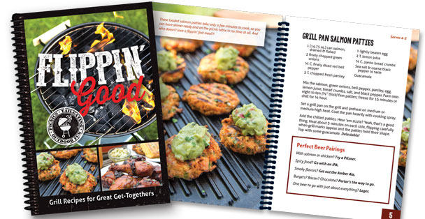 The Flippin' Good recipe book.