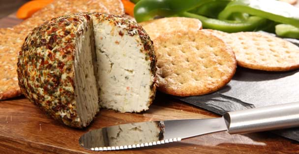 The Garden Vegetable Cheeseball with the Party Spreader.