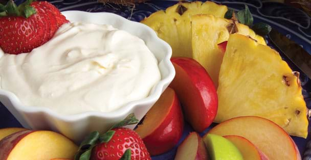 A summer dip recipe idea that is perfect for fresh fruit.