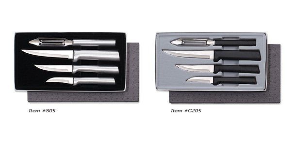 If you are looking for American made cutlery sets you will want the Meal Prep Gift Set by Rada Cutlery.