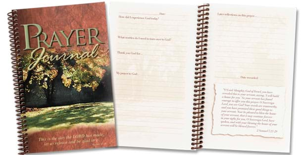 The Rada Cutlery Prayer Journal allows you to keep track of your prayers.