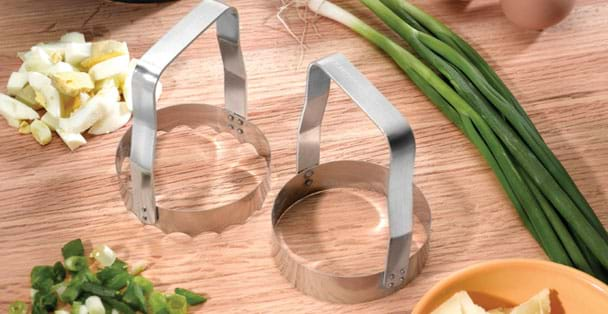 The two food choppers by Rada Cutlery can dice many different foods including eggs, celery, nuts, ground beef and many others.