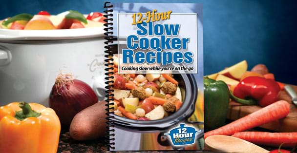 12-Hour Slow Cooker Recipes cookbook made by Rada Cutlery.