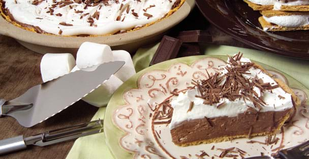 Make a chocolate cheesecake you won't have to worry about baking with this quick mix.