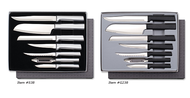 The Starter Gift set is a professional cutlery set and includes six different knives.