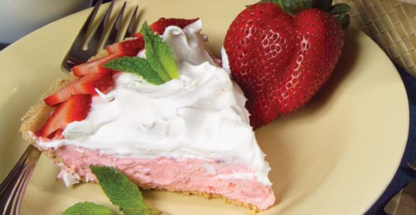 A no-bake strawberry cheesecake recipe that is easy to make.