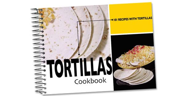 Rada Cutlery Tortillas cookbook full of recipes made with tortillas.