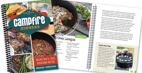 Campfire Dinners recipe book.