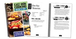 Cast Iron Cooking Cookbook.