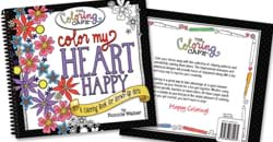 Color My Heart Happy adult coloring book.