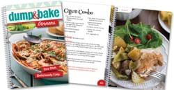 Dump and Bake Dinners cookbook.