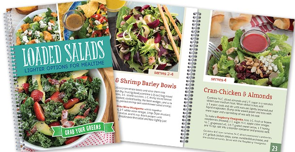 Loaded Salad recipe book.