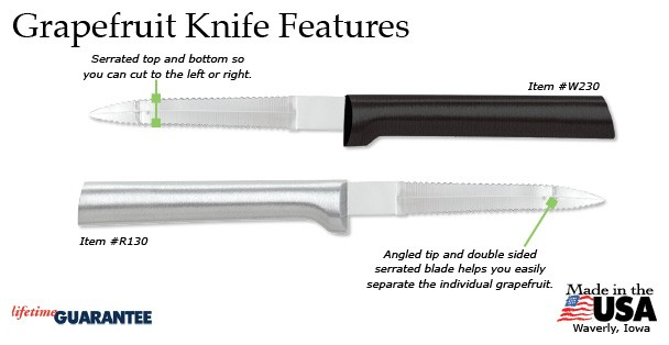 The Rada Grapefruit Knife has a litany of appealing features.