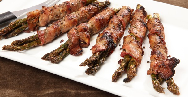 Asparagus prepared with Rada's Four Pepper Marinade.