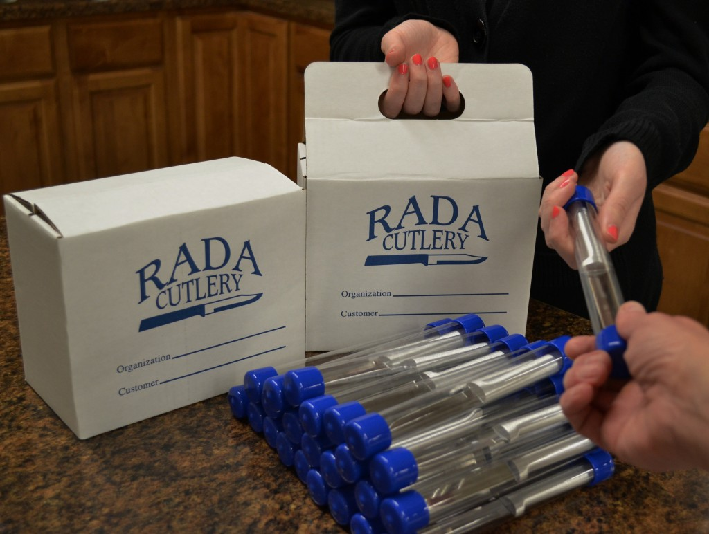 A Rada Cutlery Sample Pack is a great way to get people hooked on Rada products!