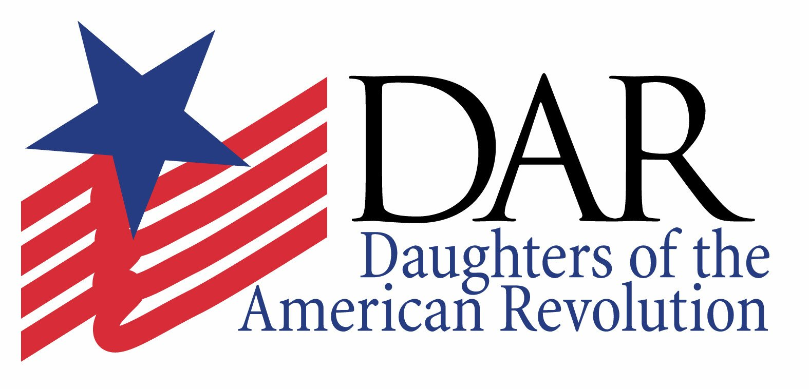 The Daughters of the American Revolution logo.