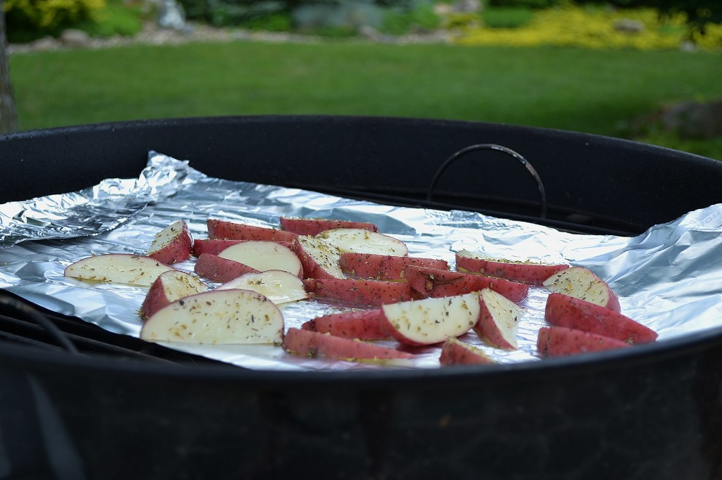 How to grill potato wedges