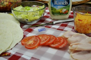 Turkey Ranch Wrap Ingredients