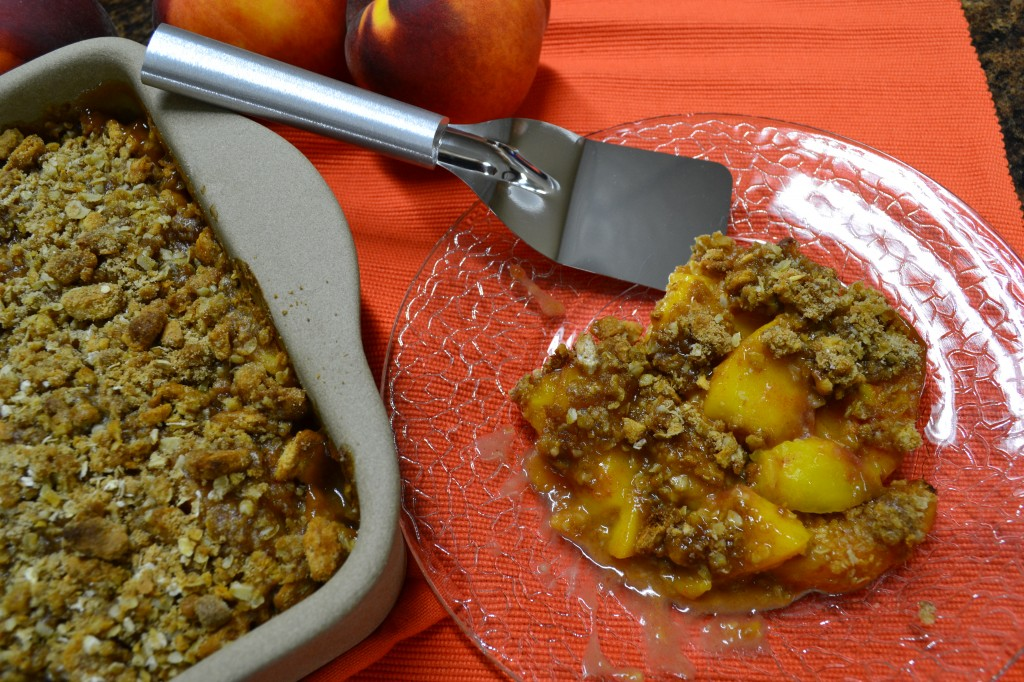 Finished Delicious Peach Crisp