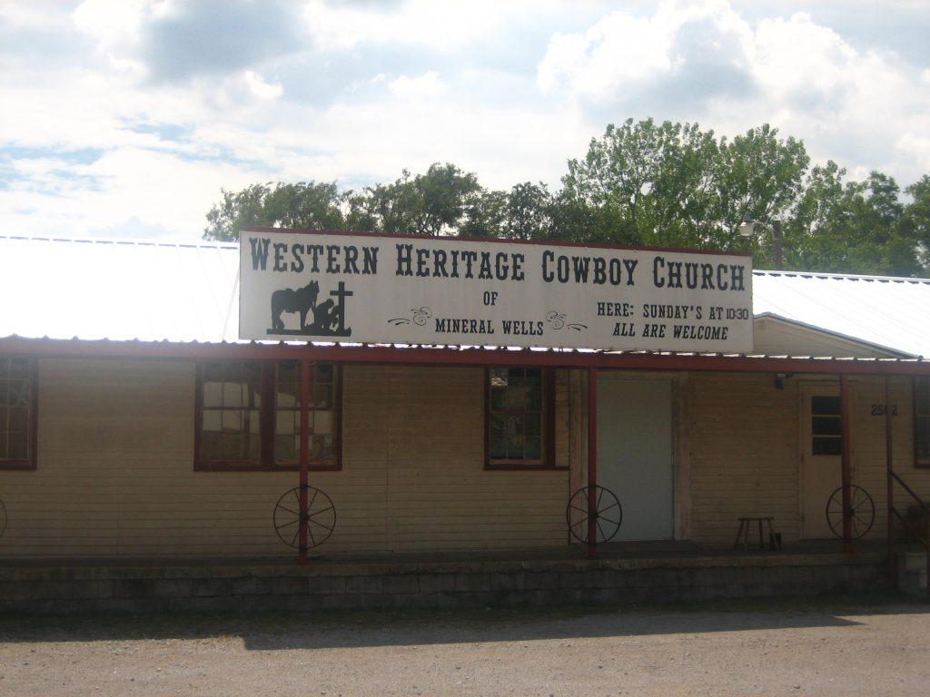 Cowboy Church in Mineral Wells TX by Billy Hawthorn
