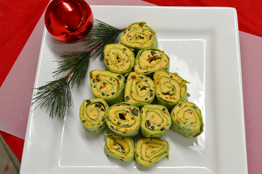 Tortilla wrap recipe and Christmas appetizer