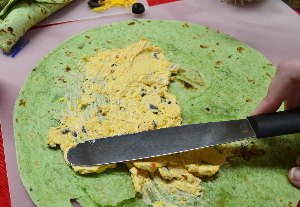 How to make a tortilla wrap.