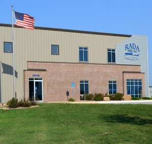 Rada Mfg. Co. Waverly, Iowa - office entrance