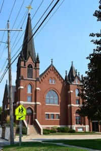 A beautiful church in Waverly, Iowa.