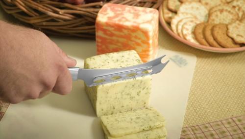 Using a Rada Cheese Knife