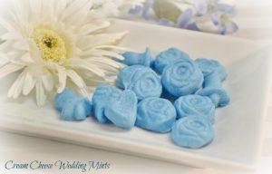 A beautiful set of homemade wedding mints.