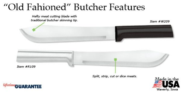The Rada Old Fashioned Butcher Knife features.