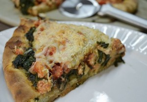 Spinach Greek Style Pizza