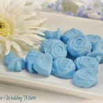 A plate of delicious wedding mints.