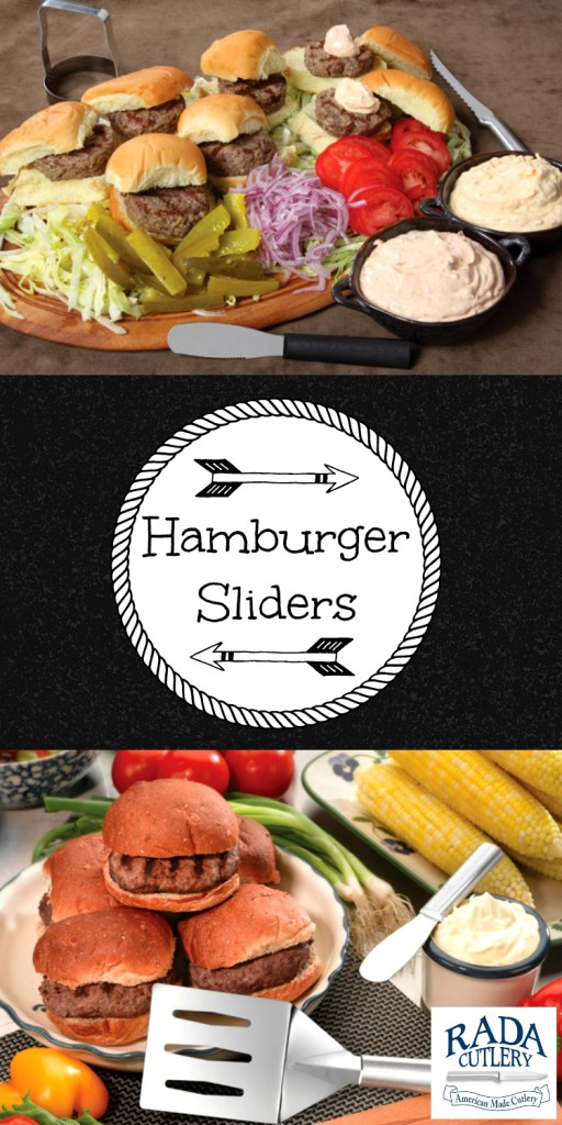 A couple of pictures featuring hamburger sliders!