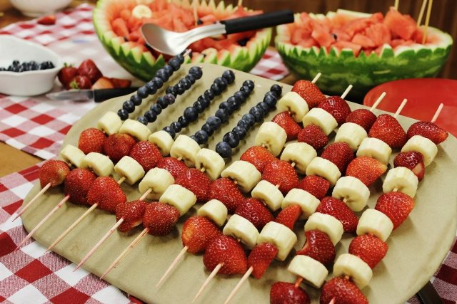 Patriotic Fruit Flag Kabob
