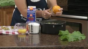 Zest your orange with the Rada vegetable peeler.