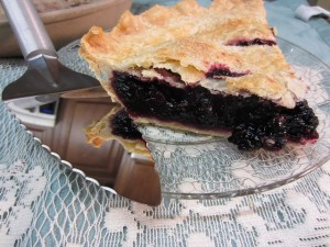 Black Raspberry Pie Slice