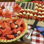 A delicious firecracker fruit salad alongside a Rada Ice Cream Scoop.