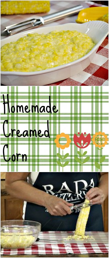 Homemade Creamed Corn Collage