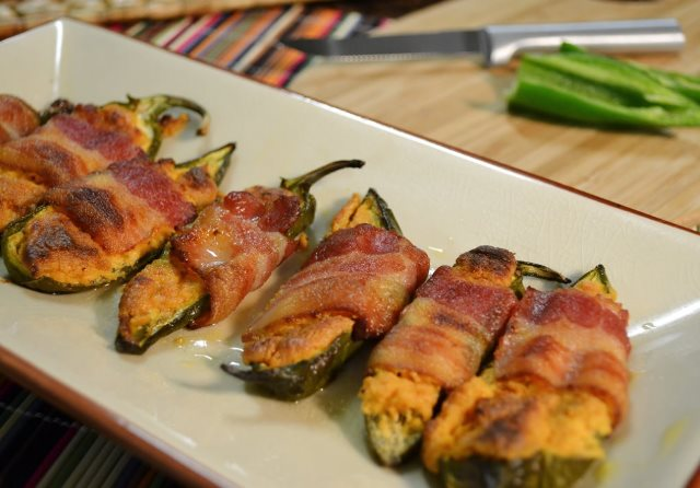 Stuffed Jalapenos and grapefruit knife