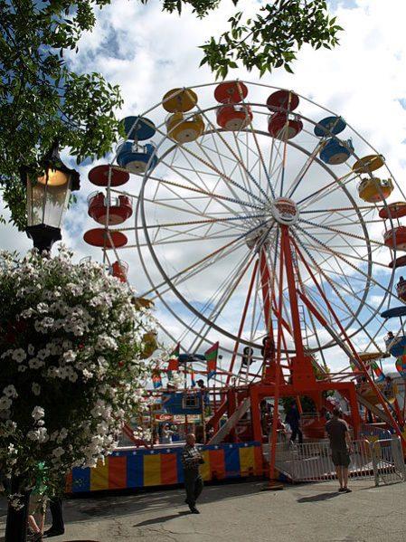 The Sweet Corn Festival Ferris wheel.