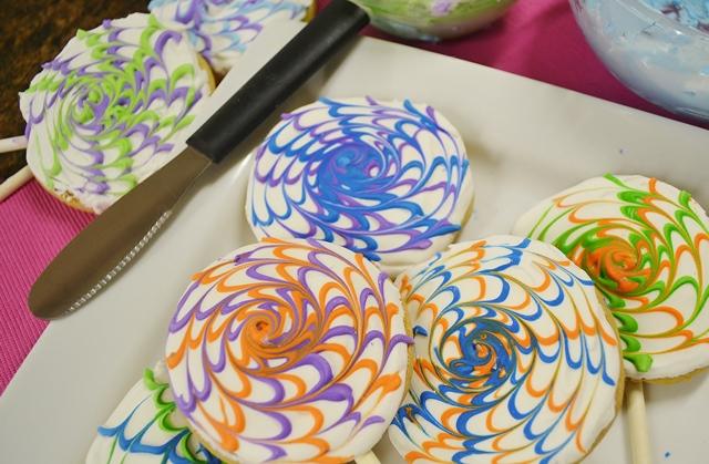 Spin Art Cookies