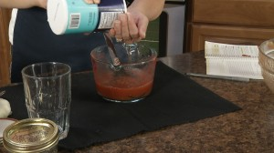 Add salt to taste for your tomato juice.