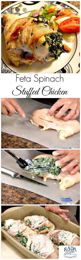 Feta Spinach Chicken Collage