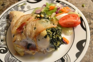 Feta & Spinach Stuffed Chicken Breasts will make you think you've dined at a fancy restaurant!