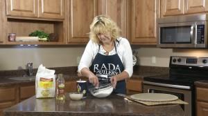 Mix flour and salt in medium bowl.